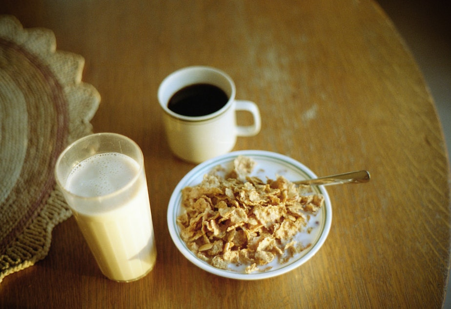 Almond milk is a popular replacement for cow's milk.