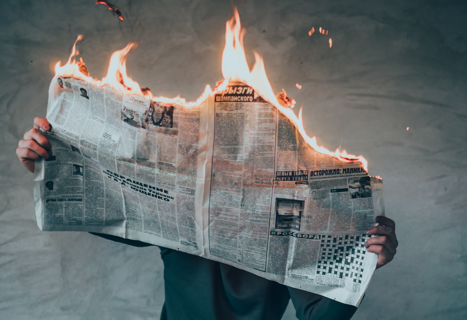 newspaper fire infodemic
