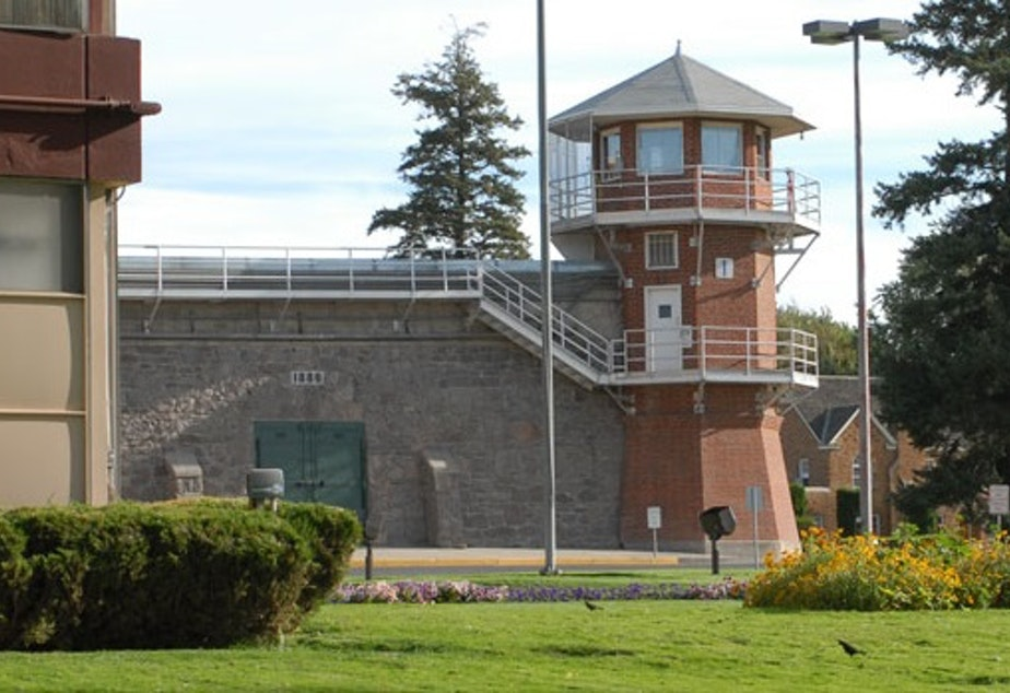 caption: A photo of the Washington State Penitentiary in Walla Walla, Washington, where inmates were placed in solitary confinement following a food strike.