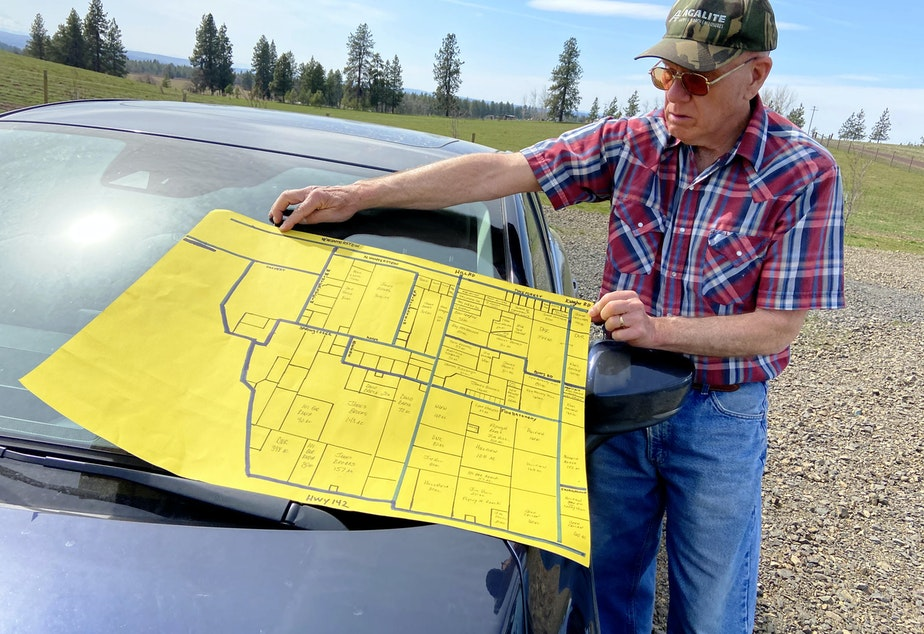 caption: Greg Wagner founded C.E.A.S.E - Citizens Educated About Solar Energy - in October 2020. He's spent recent months combing public documents in his fight against the large-scale solar farms that could be built near his property.