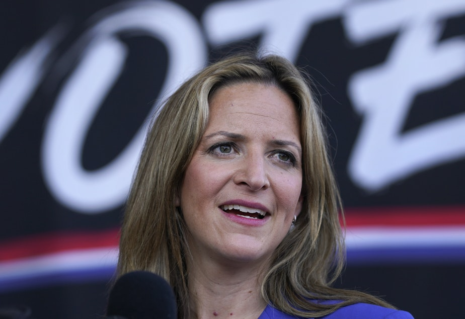 caption: Michigan Secretary of State Jocelyn Benson announced Friday Michigan will not allow people to openly carry guns at or near polling places on Election Day.