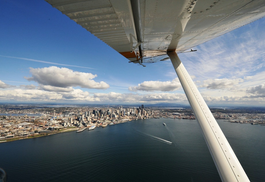 Puget Sound water quality is monitored from the air by the Washington State Department of Ecology.