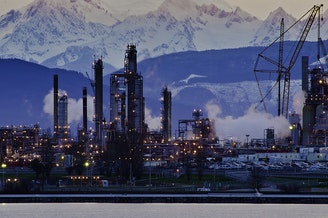 The Tesoro refinery in Anacortes