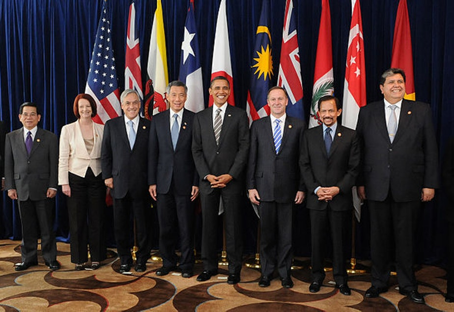A summit with leaders of the member states of the Trans-Pacific Strategic Economic Partnership Agreement in 2010.