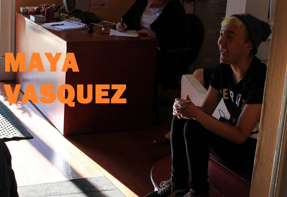 """caption: Maya Vasquez: """"Lambert House has taught me to become more of a leader."""""""