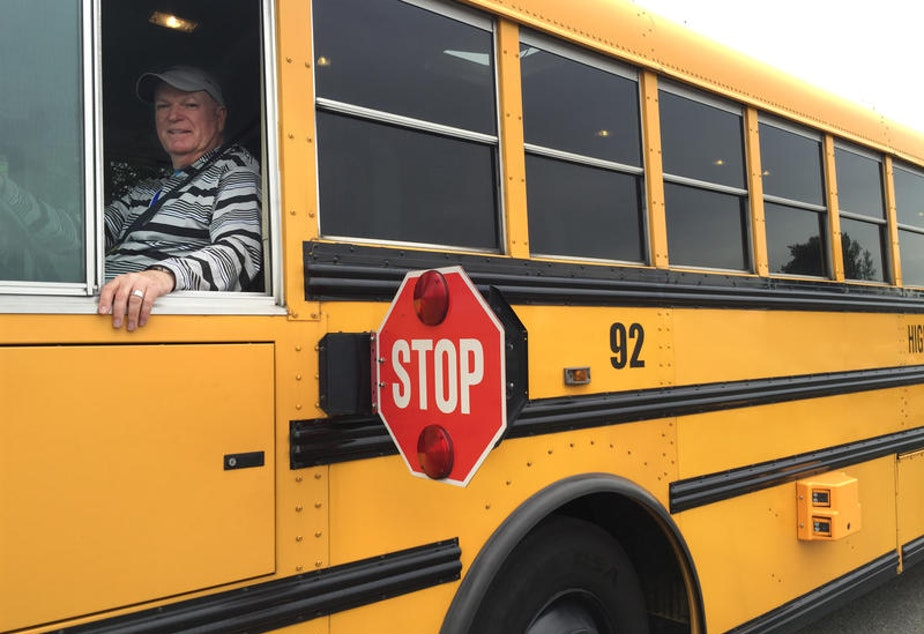 caption: File Photo: Highline school bus driver Rodger Fowler