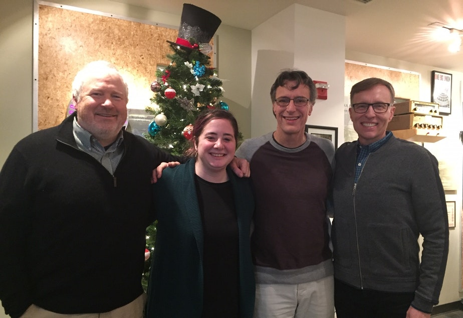 Michael McGinn, Rachel Lerman, Bill Radke and Rob McKenna [L-R]