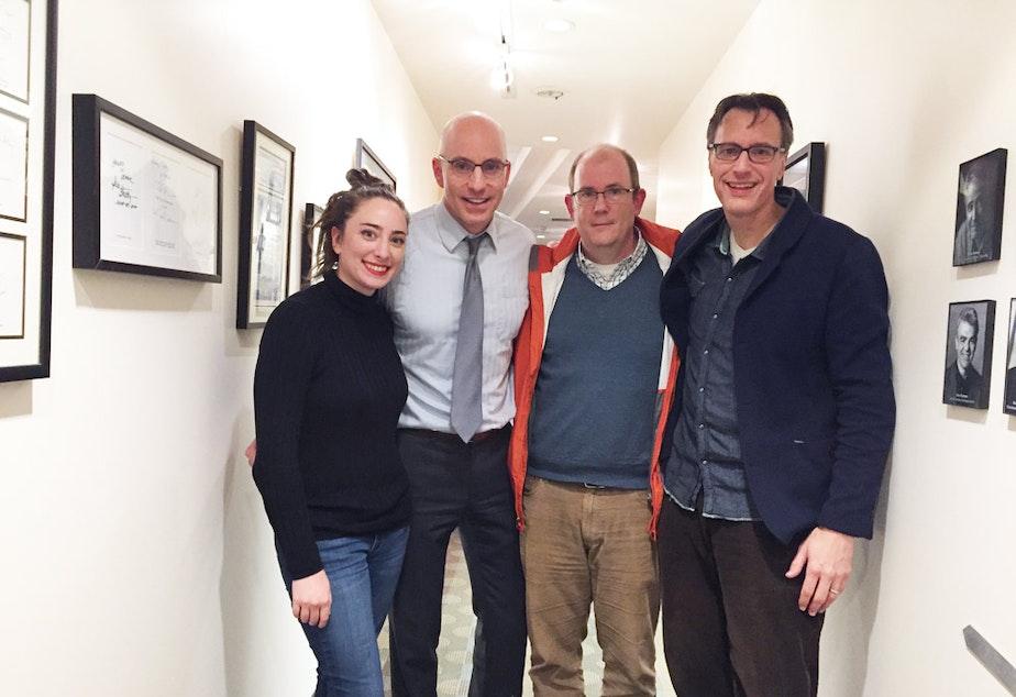 'Week in Review' panel Sydney Brownstone, C.R. Douglas, Brier Dudley and Bill Radke.