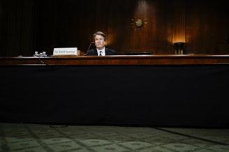 Judge Brett M. Kavanaugh at a Senate Judiciary Committee hearing on Thursday.