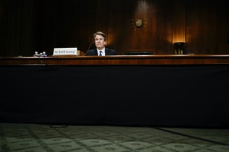Judge Brett M. Kavanaugh at a Senate Judiciary Committee hearing on Thursday.