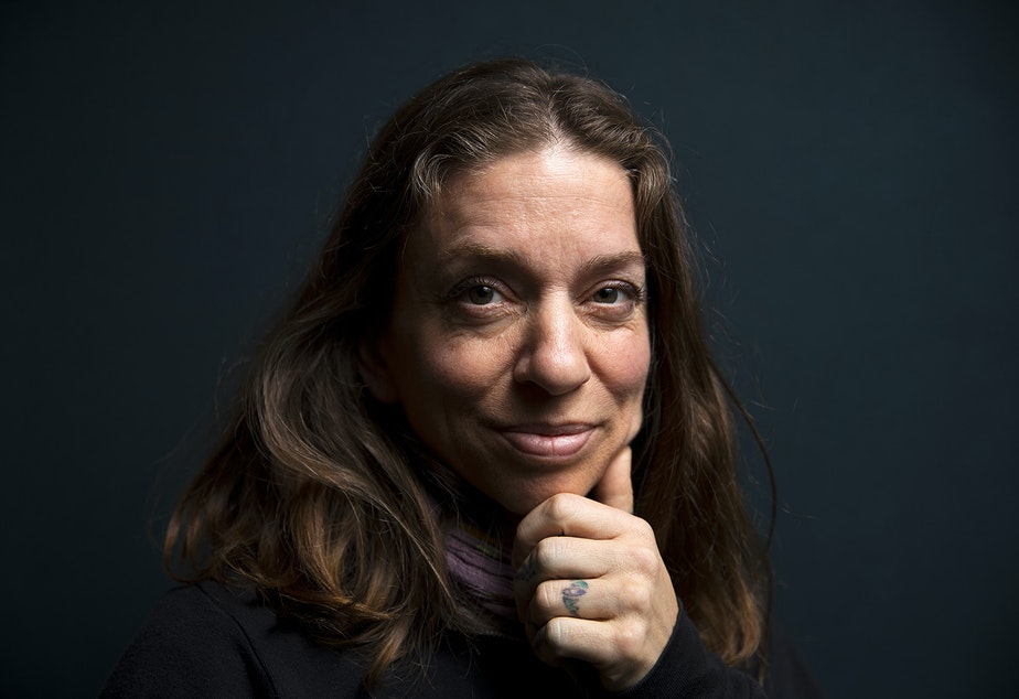 caption: Singer-songwriter, and now memoirist, Ani DiFranco