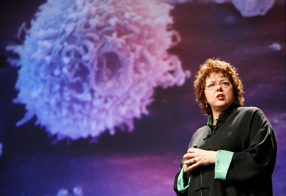 caption: Laurie Garrett, author of 'The Coming Plague' and 'Betrayal of Trust: The Collapse of Global Public Health' at Poptech.