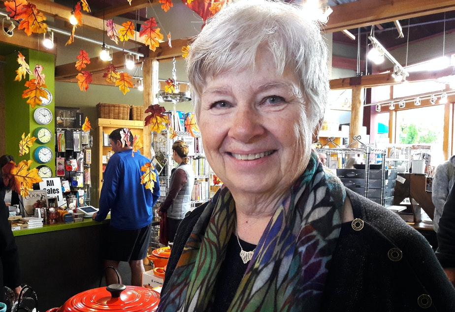 Carol Bromel, owner of Mrs. Cook's, at her kitchen shop in University Village.