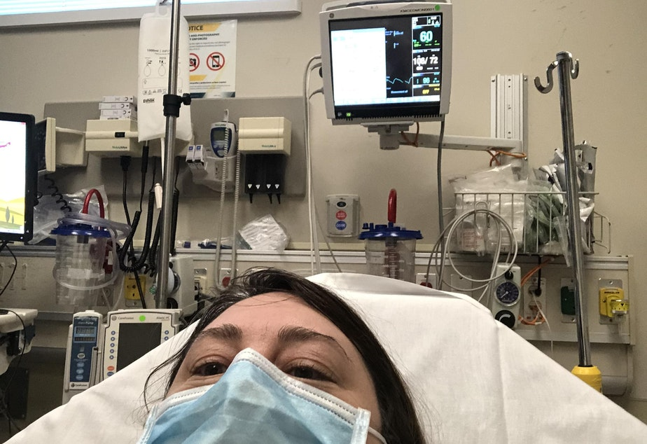 caption: Anna King went to the KADLEC Emergency Room twice during her battle with COVID-19. Once she was having trouble breathing, another time the virus attacked her inner ear, giving her vertigo.