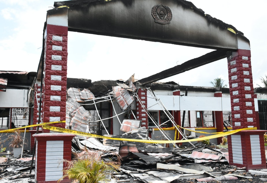 The Donggala District Prison was torched by rioting prisoners one day after the double earthquake and tsunami disasters on Sept. 28. Donggala is close to the epicenter of the earthquake, and rattled prisoners wanted a way out.