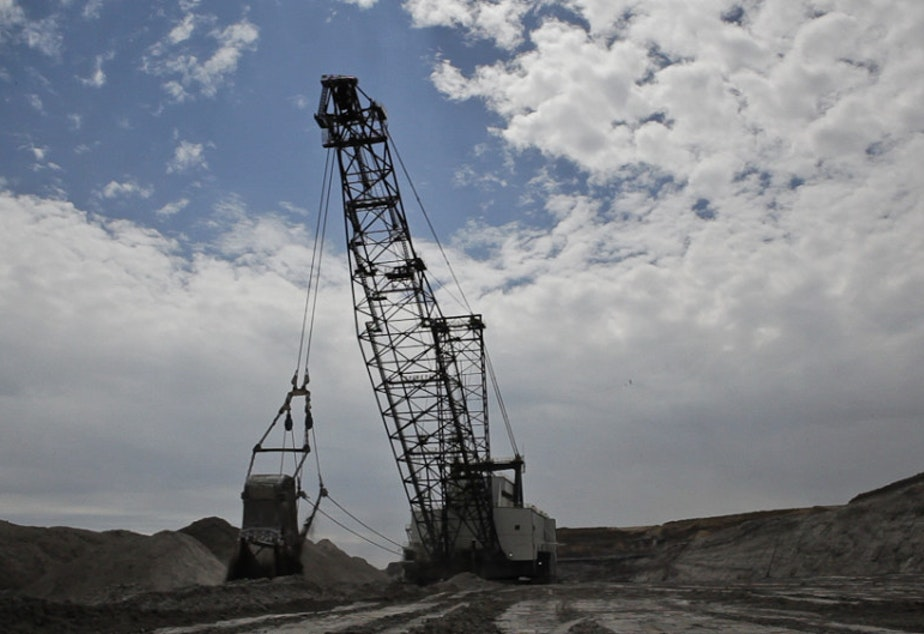 caption: A coal mine operation in Wyoming.
