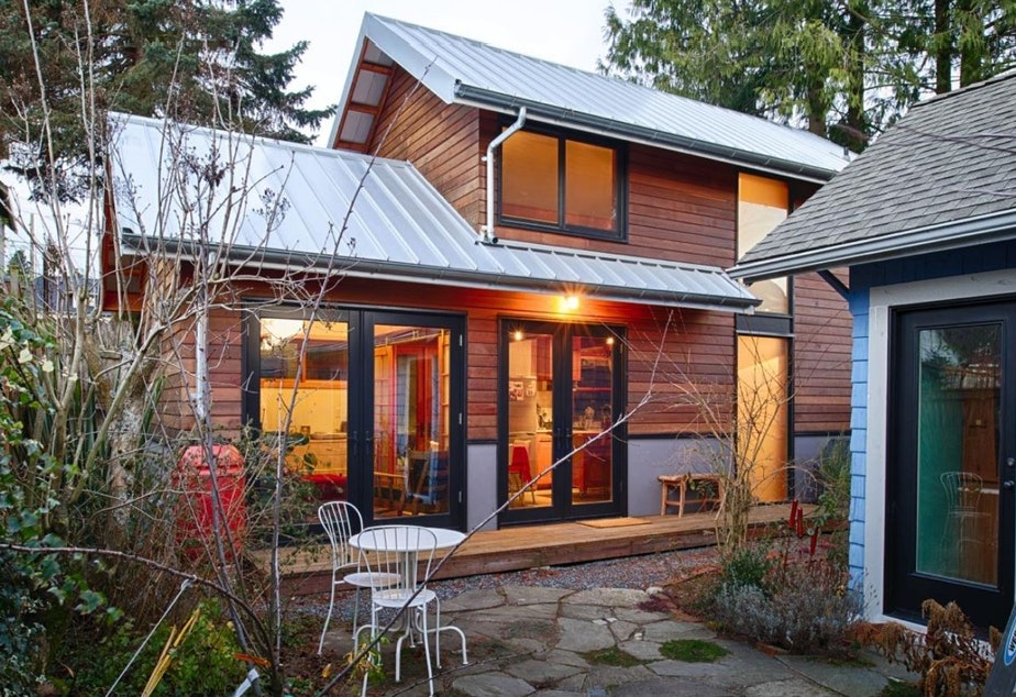 A backyard cottage in Crown Hill by Cast Architecture. The firm has been a leader promoting backyard cottages in Seattle