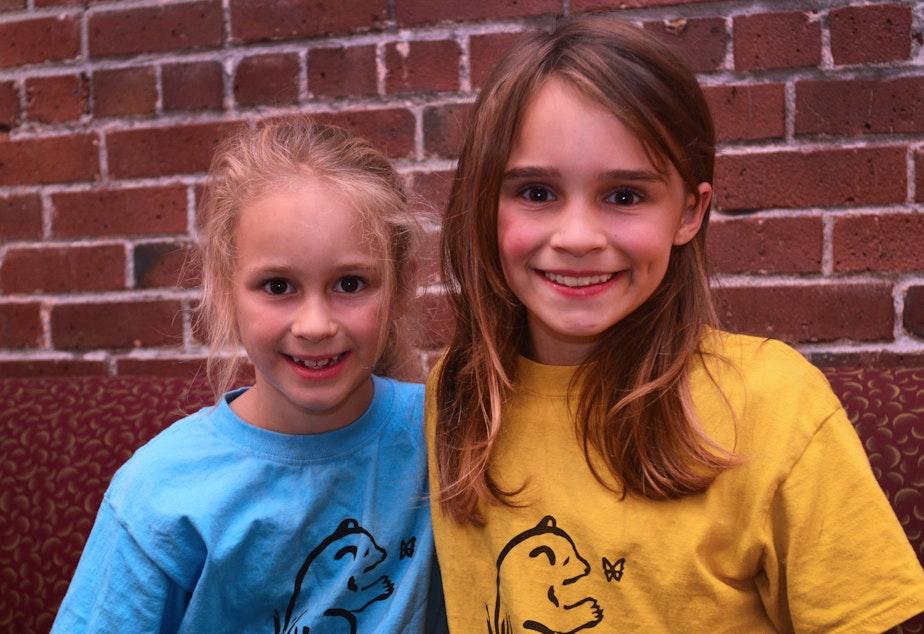Seattle students Tamar Rosenblum, 7, and Natalya McConnell, 10.