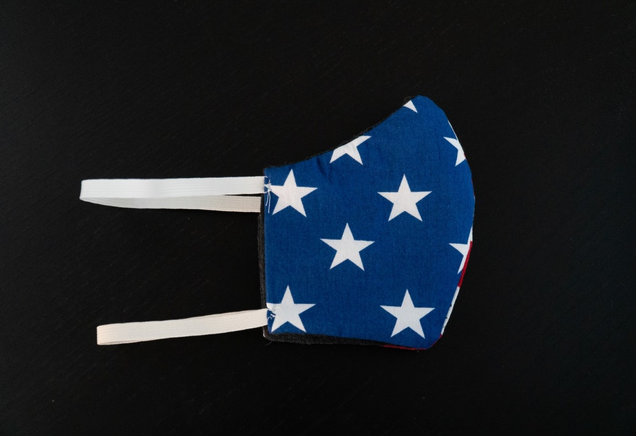Mask with American flag