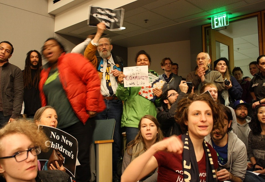 caption: Not your average County Council meeting: civil rights advocates sung, danced and filibustered, but failed to derail a proposed juvenile detention center.