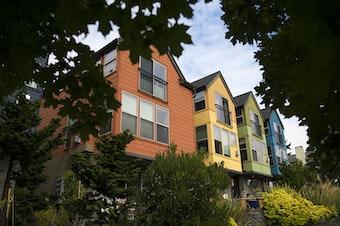 Homes in Seattle's Wallingford neighborhood, August 25, 2017