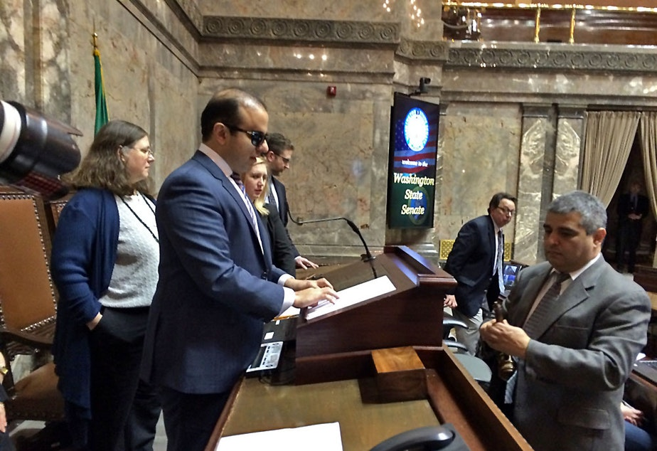 caption: Lt. Gov Cyrus Habib is requesting money in the next two year state budget to hire security.