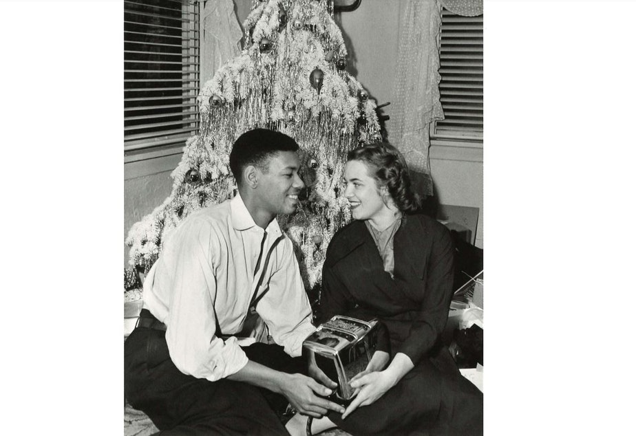 An unidentified couple around 1950. (To help us ID this couple, note the photo number. This is #8.)