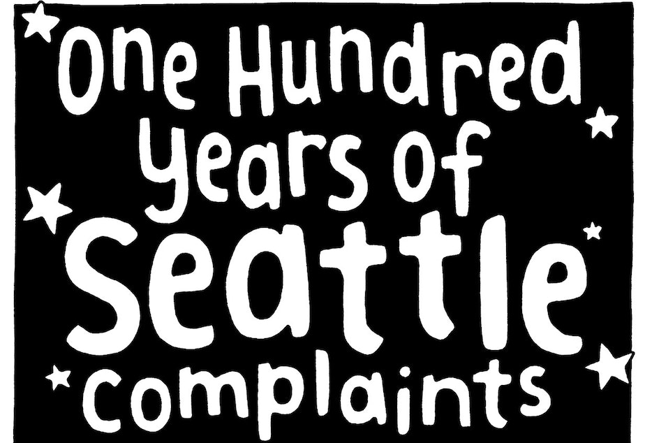 caption: Susanna Ryan, author of Seattle Walk Report illustrated a compilation of Seattle complaints