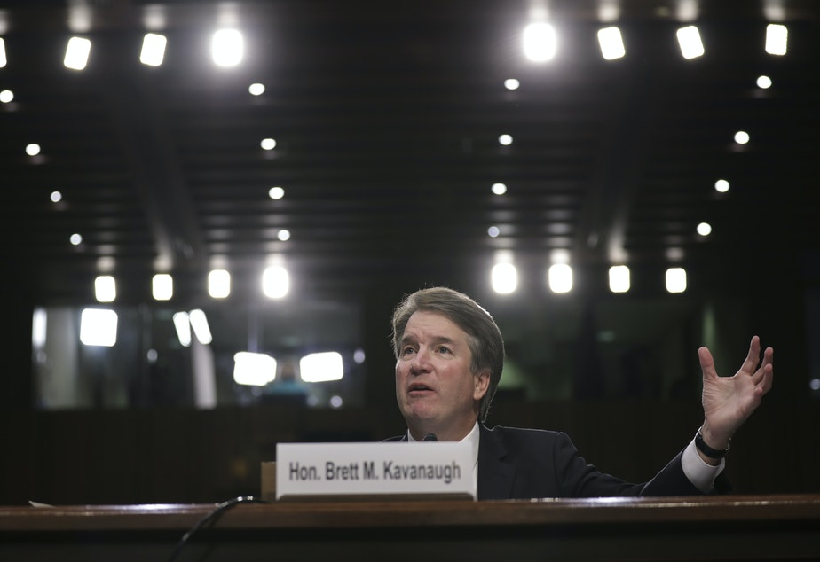 Supreme Court nominee Brett Kavanaugh testifies before the Senate Judiciary Committee on the third day of his confirmation hearing on Capitol Hill Sept. 6.