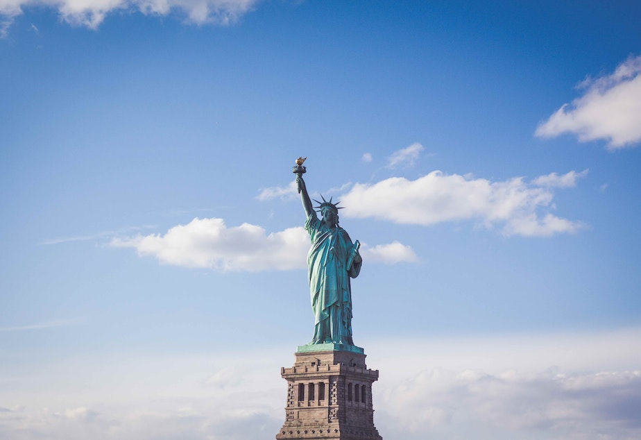 caption: The Statue of Liberty