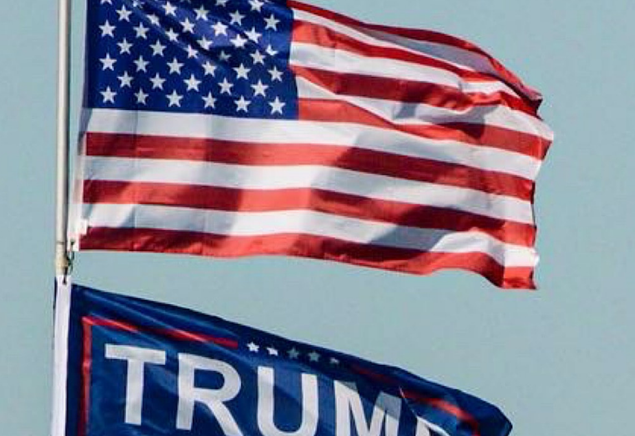 American flag trump