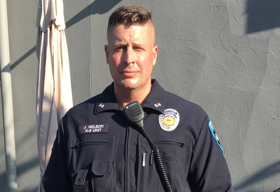 caption: Officer Jeffrey Nelson was charged with murder in the second degree, and assault in the first degree, for the death of Jesse Sarey, age 26, in Auburn. Nelson is the first officer in Washington state to be charged under a new law that was passed by initiative, I-940.