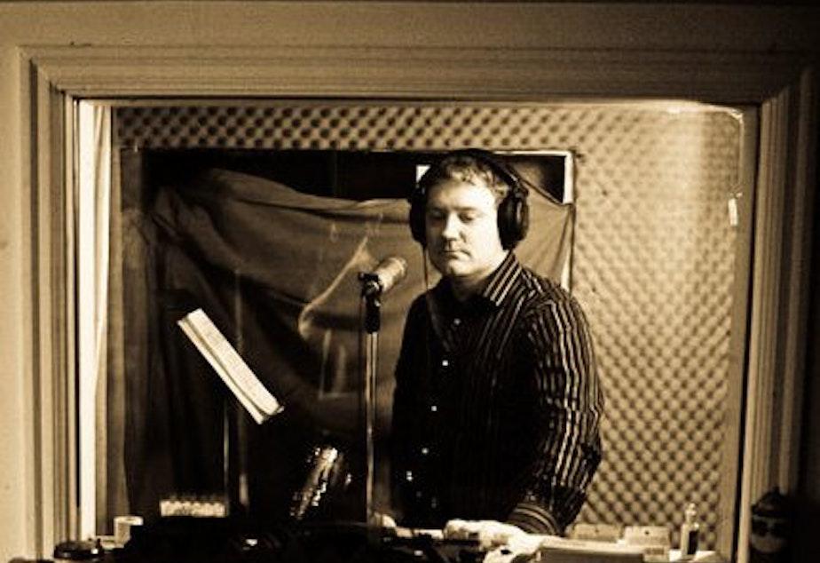 caption: James Burdyshaw at Egg Studios.