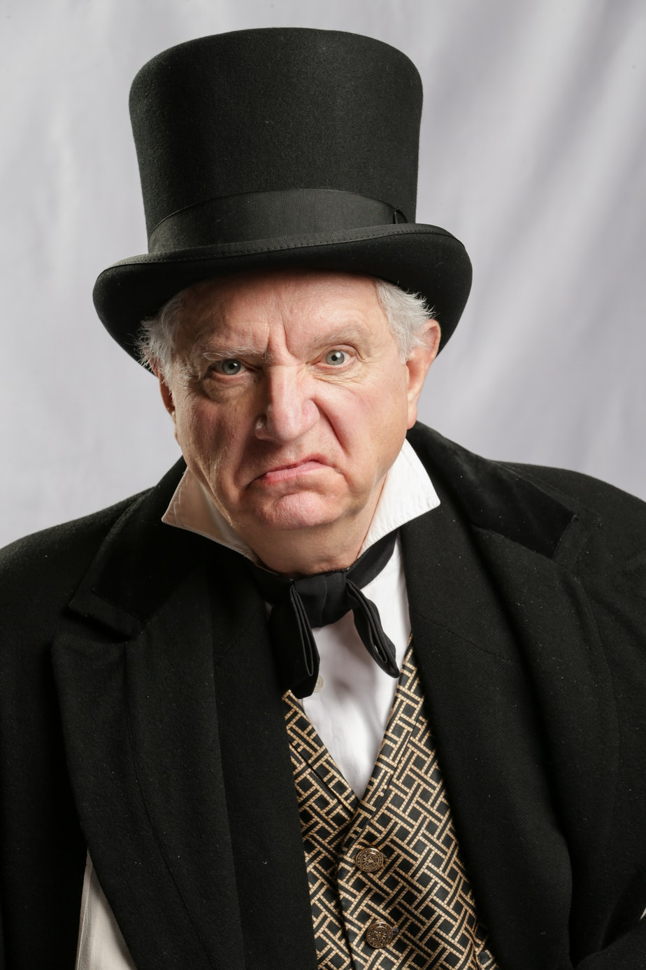 Former ACT Artistic Director Kurt Beattie in the role of Ebeneezer Scrooge