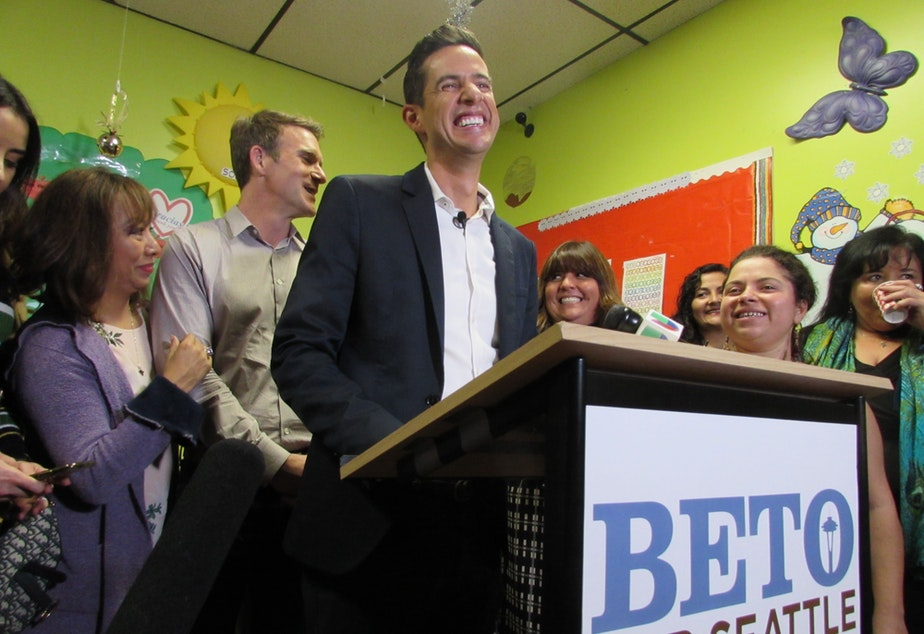 Beto Yarce launched his city council campaign from a preschool on Capitol Hill. He says his business background would be an asset to the council.