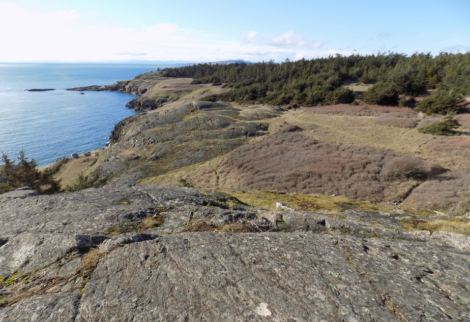 caption: Iceberg Point on Lopez island. Tap for more images.
