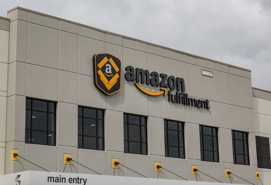 The Amazon fulfillment center in Shakopee, MN. On July 15th and 16th, 2019, employees are staging 6hr walkouts to protest working conditions.