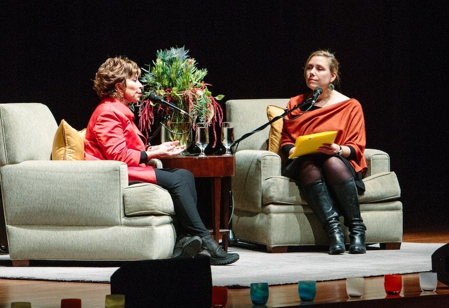 Isabel Allende and Ruth Dickey at Benaroya Hall
