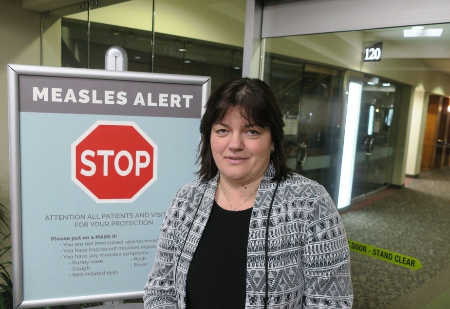caption: Dr. Tetyana Odarich says many in the Russian and Ukrainian communities in the Portland and Vancouver Washington area receive anti-vaccine messages through Russian language social media