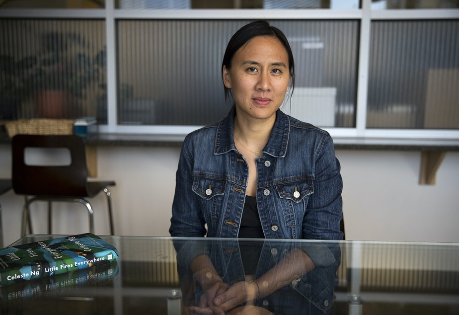 caption: Author Celeste Ng at KUOW in October, 2017.