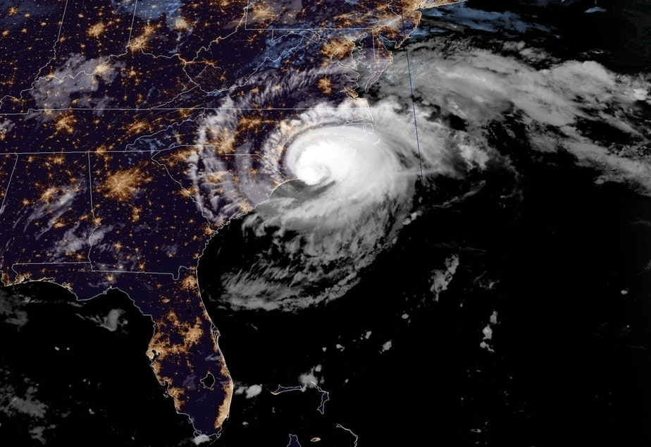 Hurricane Florence's eyewall reached the N.C. shore early Friday morning, according to the National Hurricane Center.