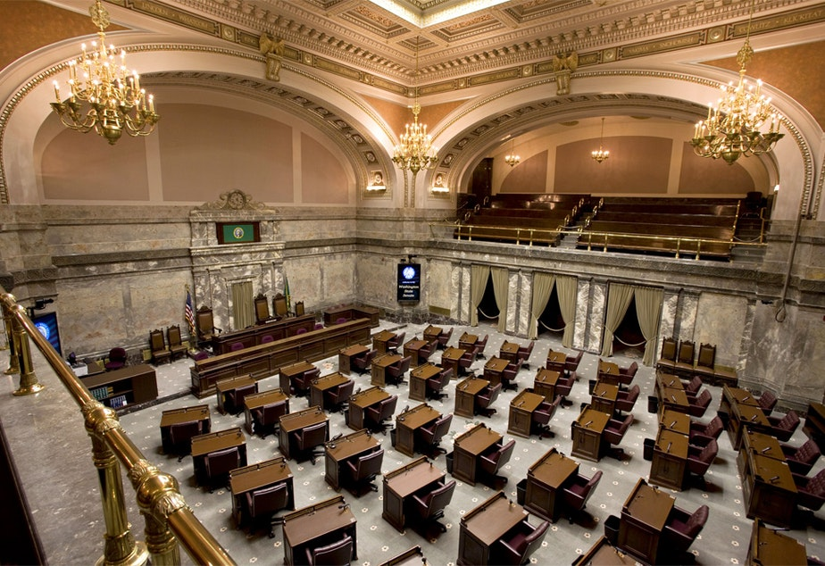 caption: Minority Republicans in the Washington Legislature are proposing a June special session to address the COVID-19 crisis.