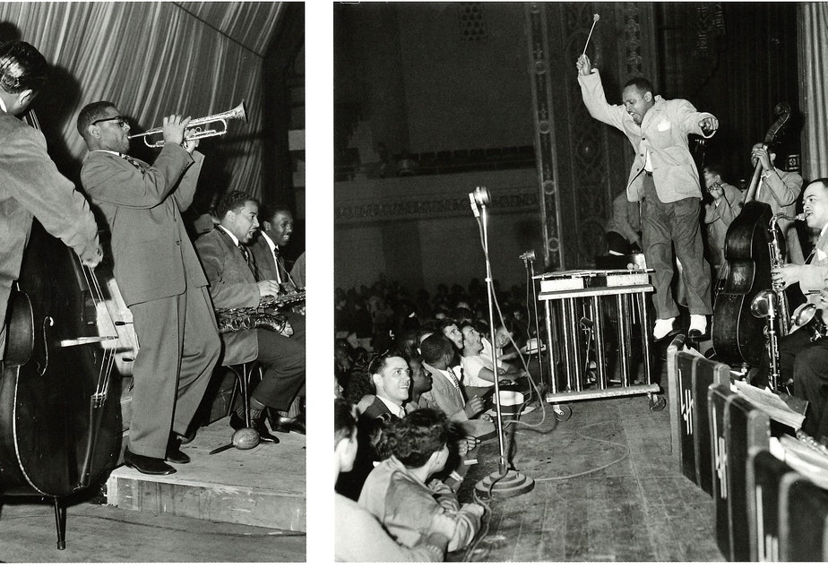 Dizzy Gillespie and his orchestra at the Senator Ballroom in 1949.