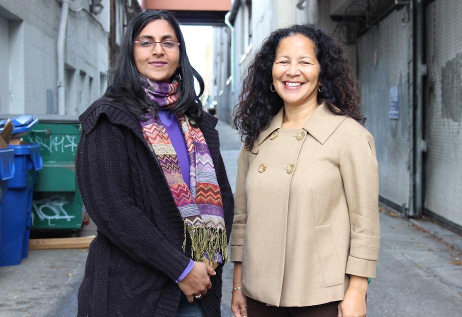 Seattle City Council District 3 candidates Kshama Sawant and Pamela Banks.