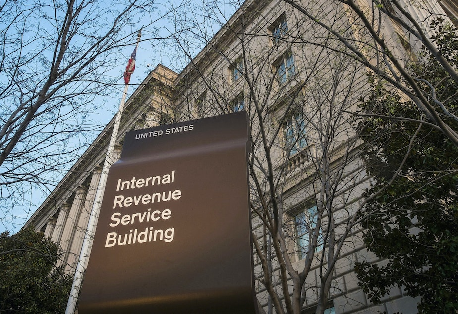 caption: The IRS is expected to push back the tax filing deadline for a second year as the coronavirus pandemic continues and with a number of last-minute changes to tax law.