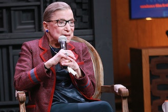 Associate Justice of the Supreme Court of the United States Ruth Bader Ginsburg speaks during the Cinema Cafe at the 2018 Sundance Film Festival on Jan. 21 in Park City, Utah.