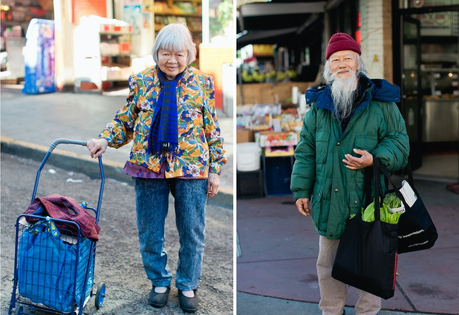 caption: The vibrant street style of seniors in Chinatowns across North America.