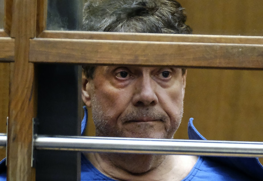 George Tyndall, pictured in July, voluntarily surrendered his medical license last week. He was arrested and charged with 29 criminal felonies for alleged professional misconduct and sexual battery by fraud, among other charges.