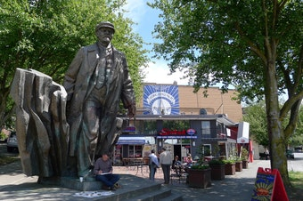 The statue of Vladimir Lenin in Seattle's Fremont neighborhood.