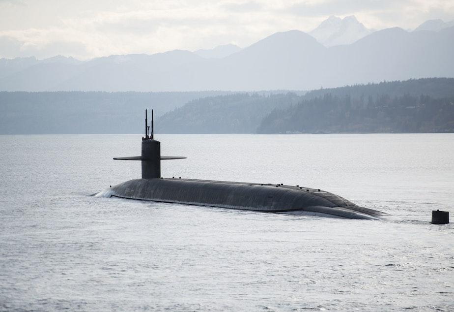 caption: The USS Nebraska stationed at Naval Base Kitsap-Bangor is part of the U.S. nuclear arsenal.